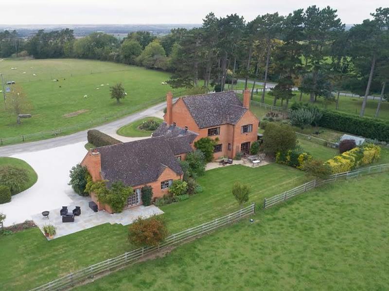 Ariel view of Hill Farm, Morton Morrell, Warwickshire